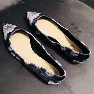 NWOT Sam Edelman Floral Velvet Balet Flats Sz 8.5